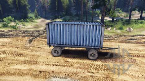 Trailer-container for ZIL-133 G1 and ZIL-133 GA for Spin Tires