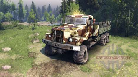 KrAZ-255 camo v2 for Spin Tires