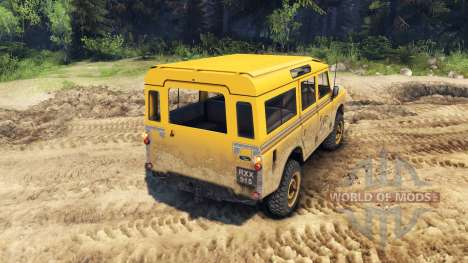 Land Rover Defender Camel Trophy for Spin Tires