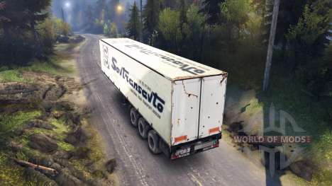 Semitrailer Sovtransavto for Spin Tires