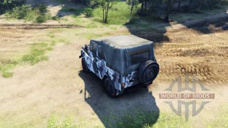 The UAZ-469 in a new color for Spin Tires