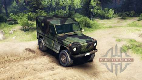 Mercedes-Benz 250GD Wolf for Spin Tires