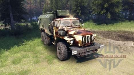 Ural-4320 camo v2 for Spin Tires