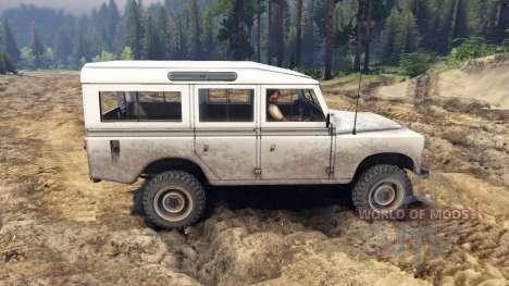 Land Rover Defender White for Spin Tires