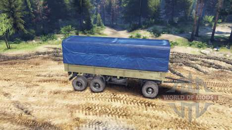 Trailer tent for ZIL-133 G1 and ZIL-133 GA for Spin Tires