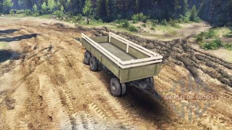 Trailer side v1 for ZIL-133 G1 and ZIL-133 GA for Spin Tires