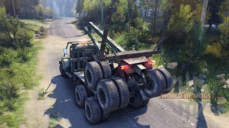 KrAZ-255 road for Spin Tires