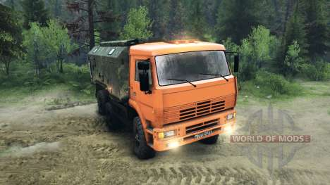 KamAZ-6520 raised for Spin Tires