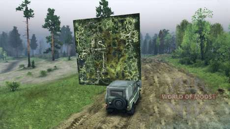 Holographic map of the Forester for Spin Tires