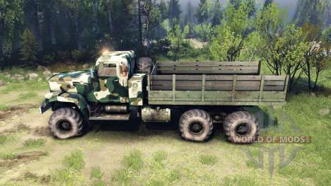 KrAZ-255 camo v4 for Spin Tires