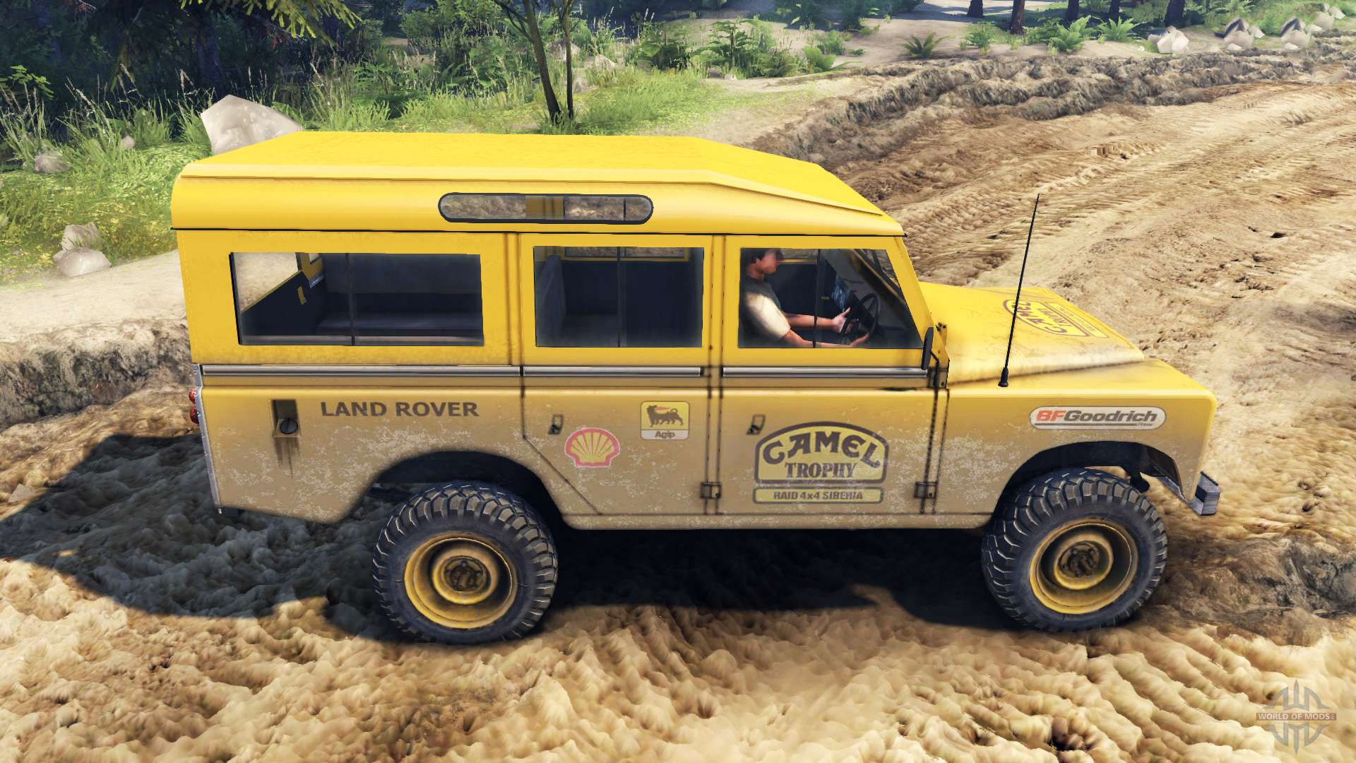 Land Rover Defender Camel Trophy Siberia For Spin Tires