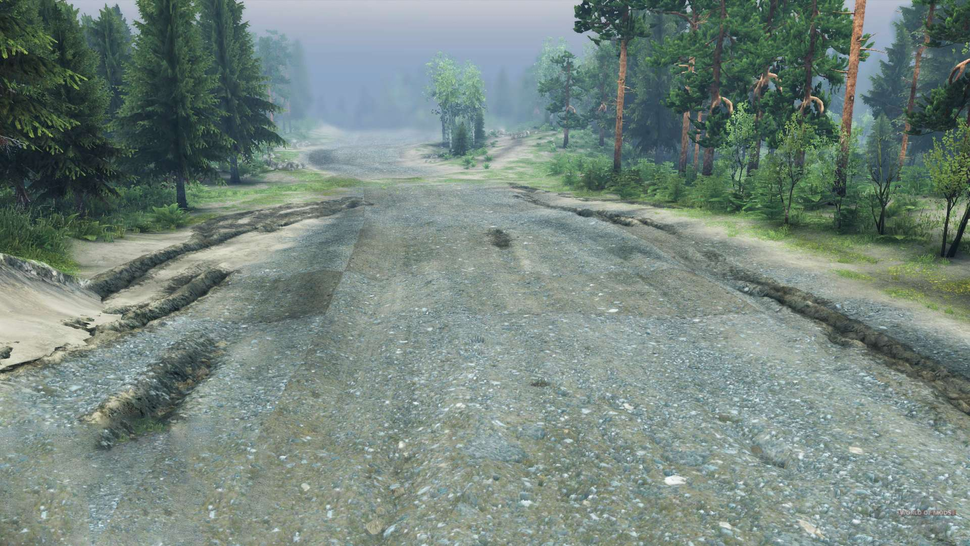 Crushed Canyon Cobble 3 8 3 4 : Crushed stone road for spin tires