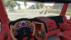 Interior for DAF-Red & Orange for Euro Truck Simulator 2