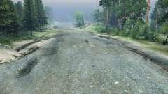 Crushed stone road