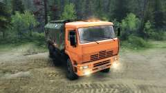 KamAZ-6520 raised for Spin Tires