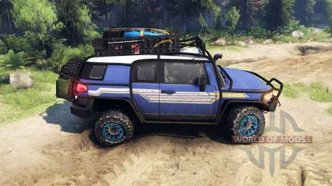 Toyota FJ Cruiser синий for Spin Tires