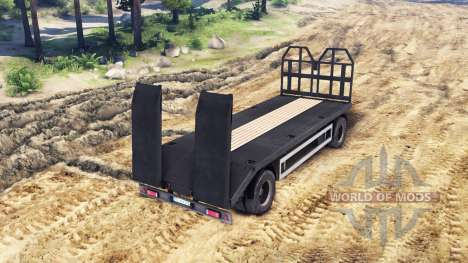 Trailer-tow truck MAN 19414 for Spin Tires