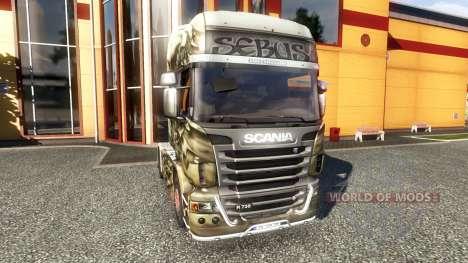 Color-Sebus Joker - on tractor Scania for Euro Truck Simulator 2