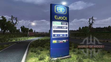 The gas station EuroOil for Euro Truck Simulator 2