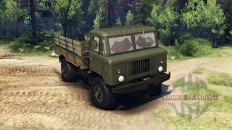 GAZ-66 truck :  for Spin Tires