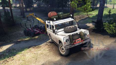 Land Rover Defender Series III v2.2 White for Spin Tires