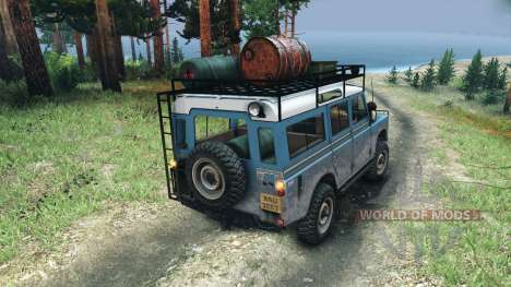 Land Rover Defender Series III v2.2 Blue for Spin Tires