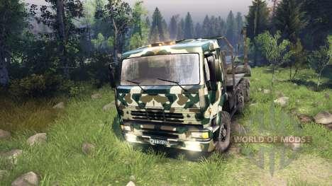 KamAZ-6520 camo v4 for Spin Tires