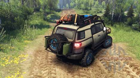 Toyota FJ Cruiser brown for Spin Tires