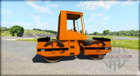 Asphalt roller Caterpillar for BeamNG Drive
