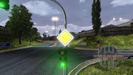 Russian road signs for Euro Truck Simulator 2