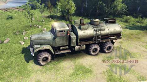 Green tank KrAZ-255 for Spin Tires