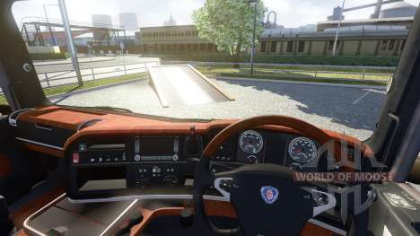 Interior for Scania-Wood- for Euro Truck Simulator 2