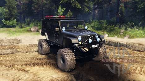 Jeep Wrangler Unlimited SID Nowhere for Spin Tires