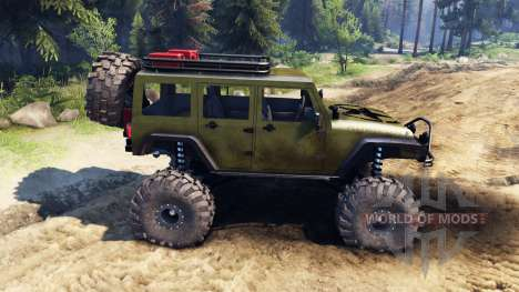 Jeep Wrangler Unlimited SID Green for Spin Tires