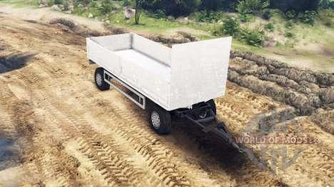 Flatbed trailer MAN 19414 for Spin Tires