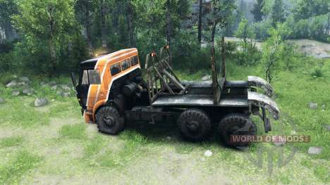 Black and orange color on KAMAZ-6520 for Spin Tires