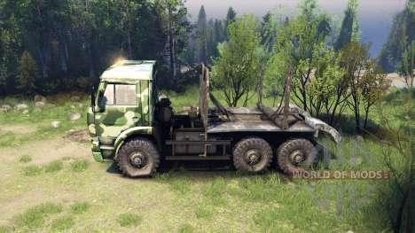 KamAZ-6520 camo v1 for Spin Tires