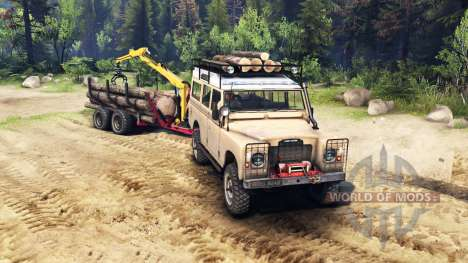 Land Rover Defender Series III v2.2 Sand for Spin Tires