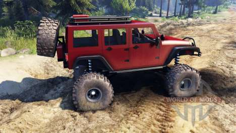 Jeep Wrangler Unlimited SID Red for Spin Tires