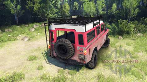 Land Rover Defender Series III v2.2 Red for Spin Tires