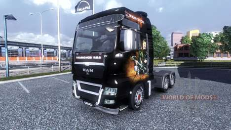 Color-Rammstein - on truck MAN for Euro Truck Simulator 2
