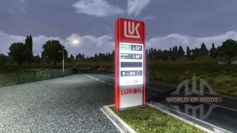 THE GAS STATION LUKOIL for Euro Truck Simulator 2