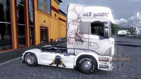Color-Viking Line - for Scania truck for Euro Truck Simulator 2