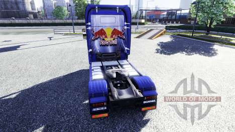 Color-Red Bull - truck Scania for Euro Truck Simulator 2
