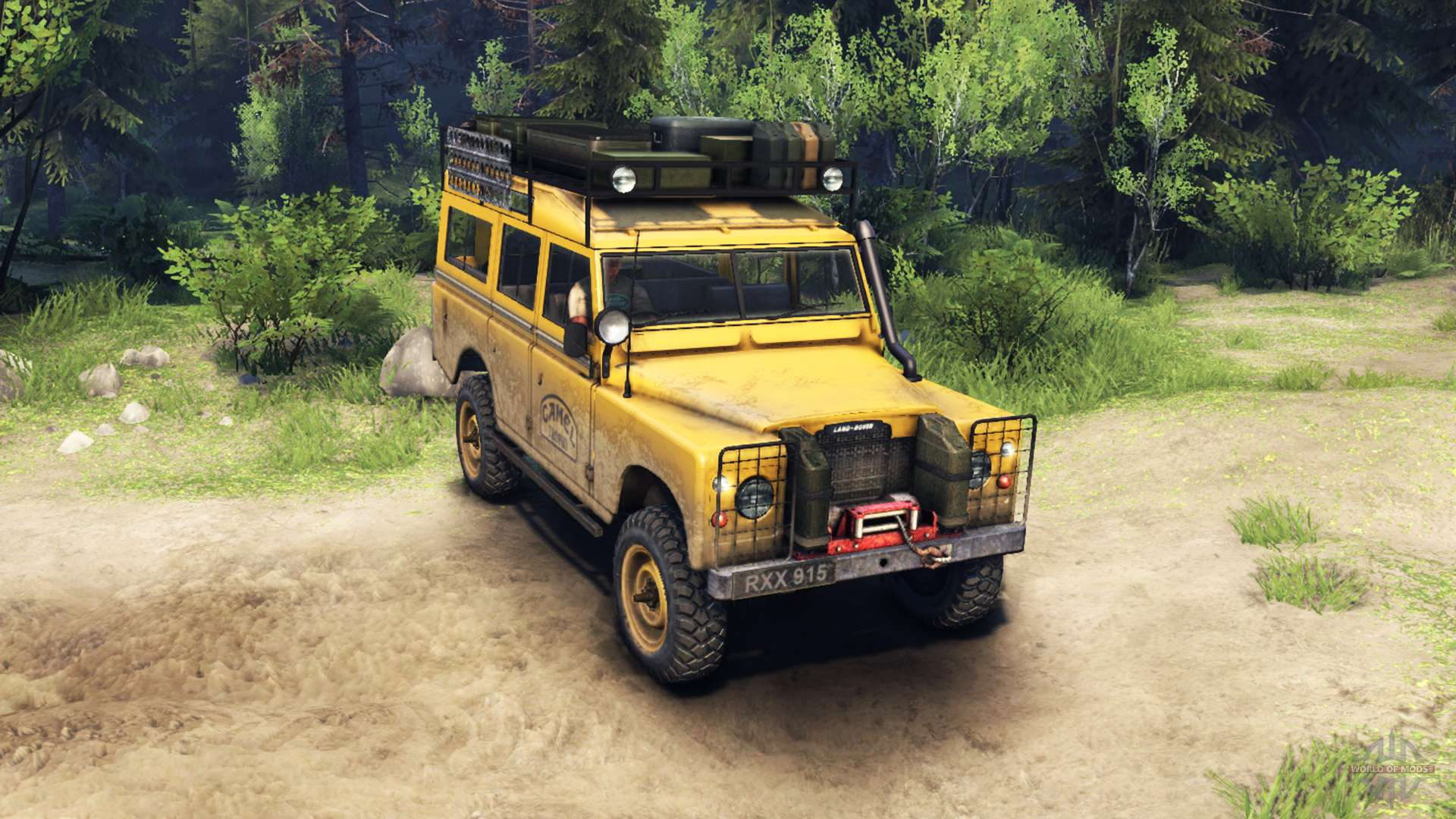 Land Rover Defender Series Iii V2 2 Camel Trophy For Spin