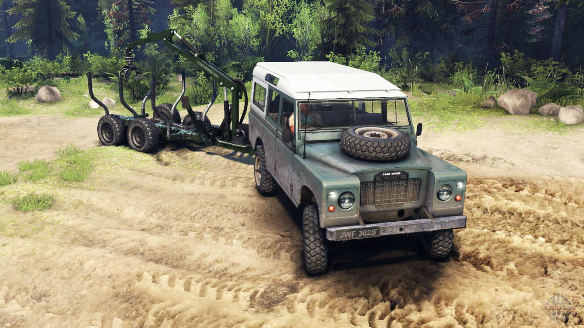 Land Rover Defender Series Iii V2 2 Cyan For Spin Tires