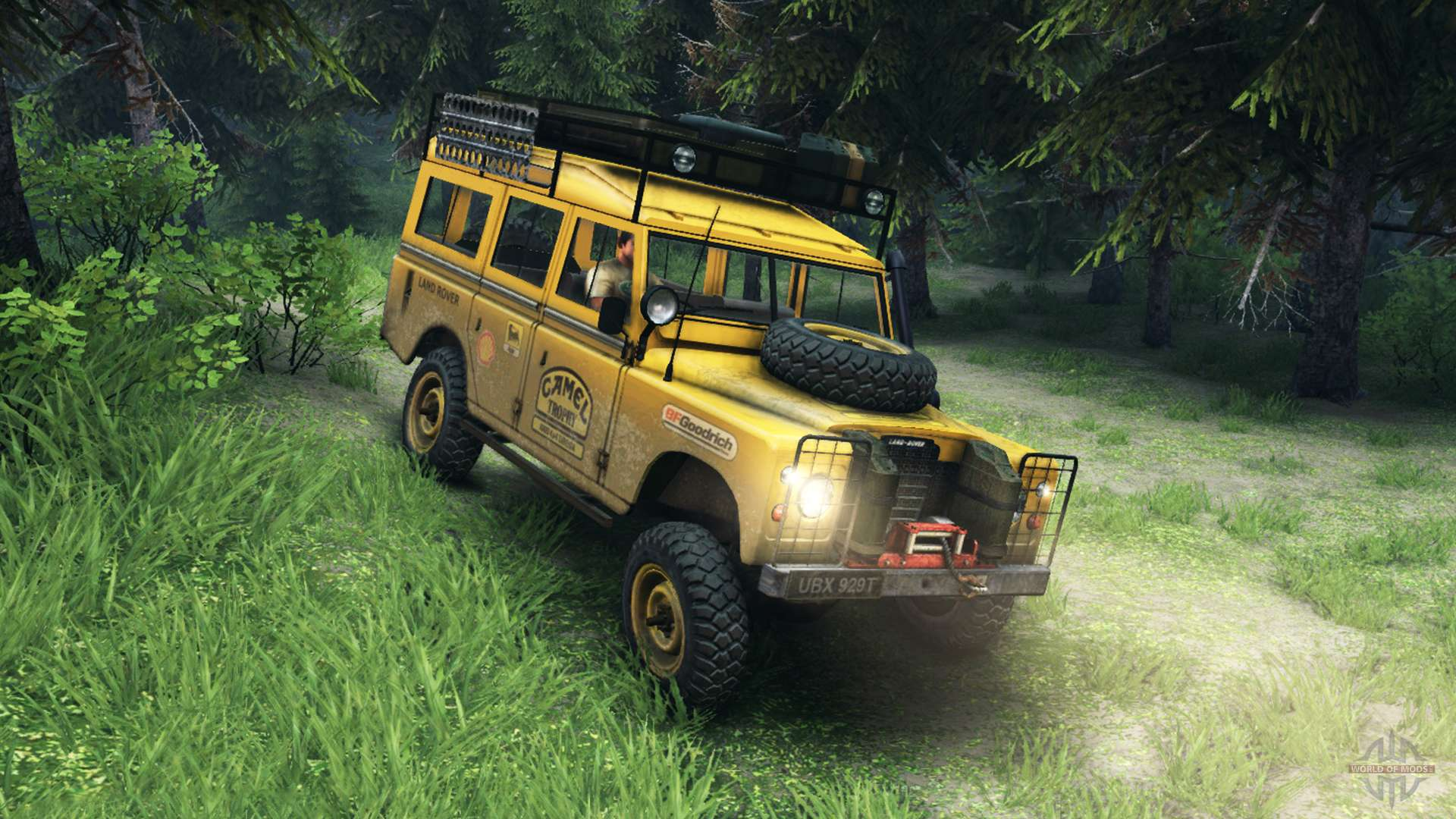 Land Rover Defender V2 2 Camel Trophy Siberia For Spin Tires