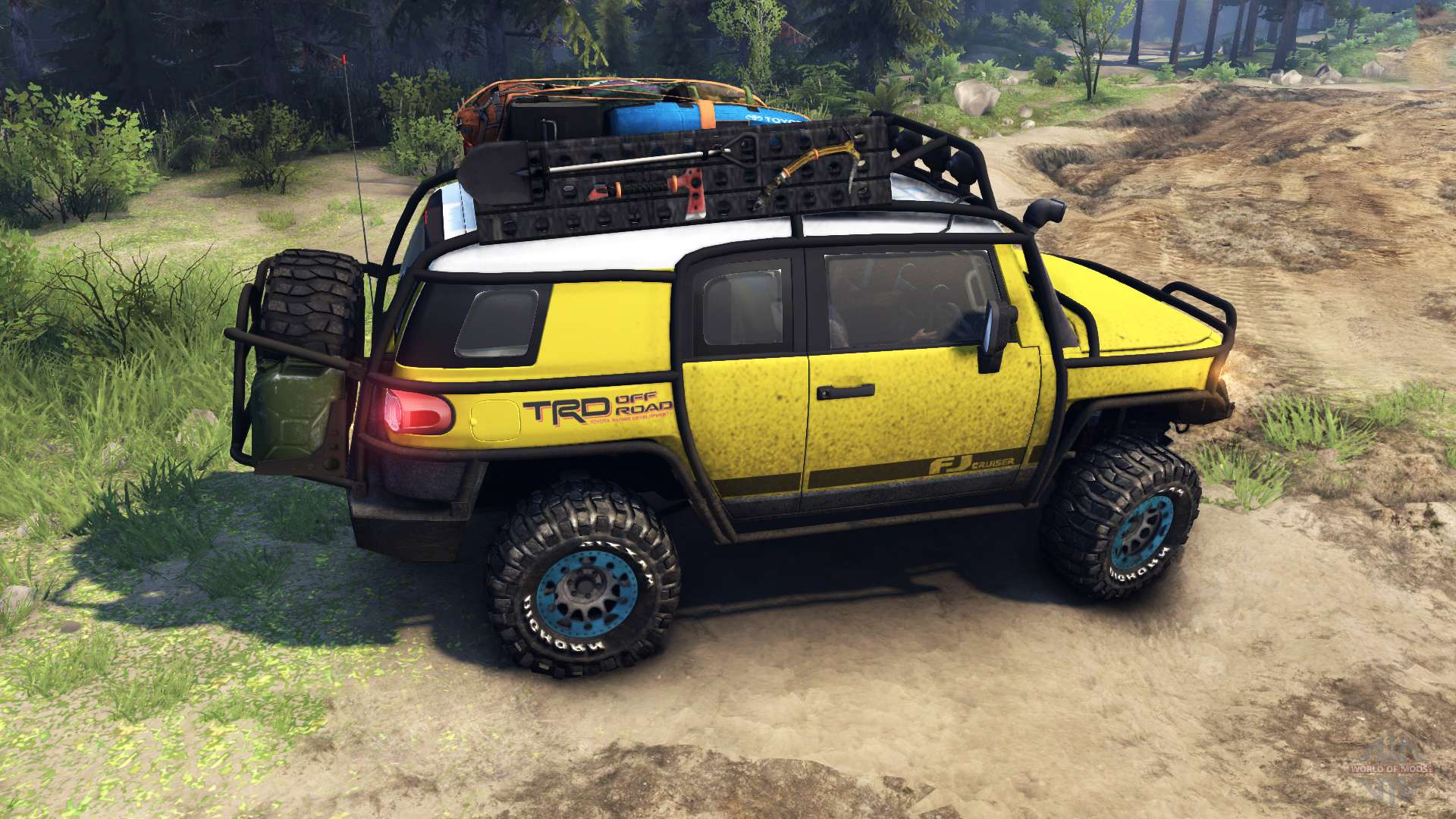 toyota fj cruiser yellow for spin tires. Black Bedroom Furniture Sets. Home Design Ideas