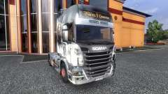 Color-Pirates of the Caribbean - on tractor Scania for Euro Truck Simulator 2