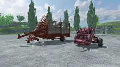 Bale baler and bales pickup
